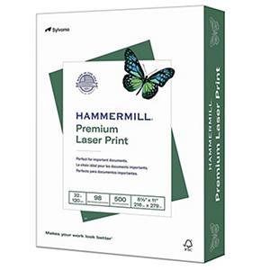"Hammermill - Laser Print Paper, 32lb, 98 Bright, 8-1/2 x 11"" - Ream"