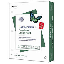 Hammermill - Laser Print Paper, 24lb, 98 Bright, 3 Hole Punched - Ream
