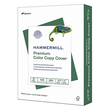 Hammermill - Color Copy Cover Paper, 60lb, 100 Bright, 8-1/2 x 11