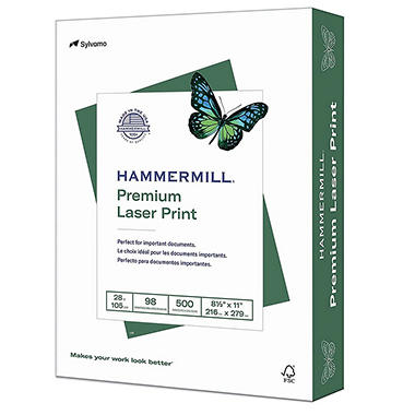 Hammermill - Laser Print Paper, 28lb, 98 Bright, 8-1/2 x 11