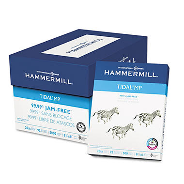 "Hammermill - Tidal MP Copy Paper, 20lb, 92 Bright, 8-1/2 x 11"" - Case"