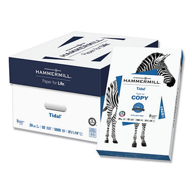 "Hammermill - Tidal MP Copy Paper, 20lb, 92 Bright, 8-1/2 x 14"" - Ream"