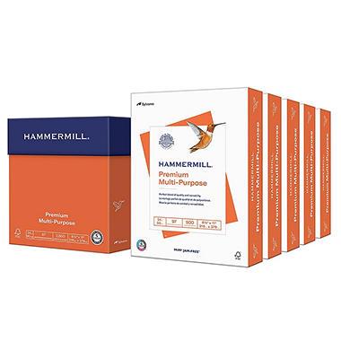 Hammermill - Premium Multipurpose Paper, 8-1/2 x 11, White - 2500/Carton