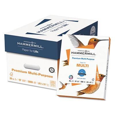 Hammermill - Premium Multipurpose Paper, 8-1/2 x 11, White - 5000/Carton