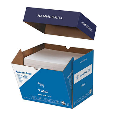 "Hammermill - Tidal MP Copy Paper, 20lb, 92 Bright, 8-1/2 x 11"" - Half Case"