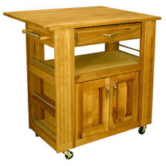 Heart of the Kitchen Island with Drop Leaf