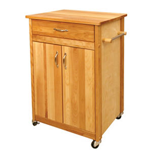 Catskill Butcher Block Cart with Flat Doors