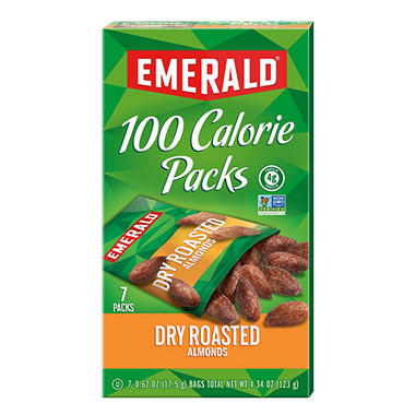 Emerald� 100 Calorie Pack Dry Roasted Almonds - 7 pks./box