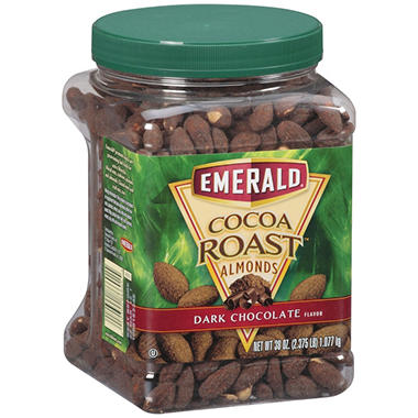 Emerald Cocoa Roast Dark Chocolate Almonds - 38 oz.