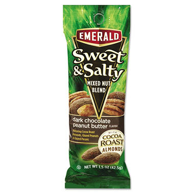Emerald Sweet & Salty, Dark Chocolate Peanut Butter (1.5 oz. tube package, 12 pk.)