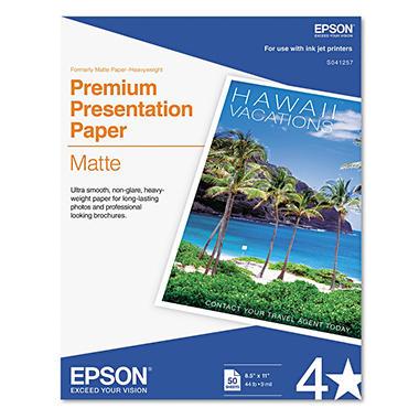 Epson - Premium Presentation Paper, Inkjet, 8-1/2 x 11