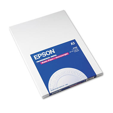 "Epson - Premium Presentation Paper, Inkjet, 11.7 x 16.5"", Matte - 50 Sheets"