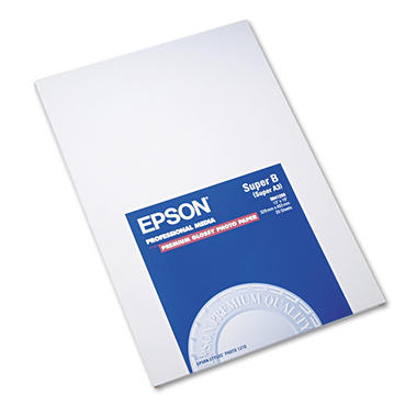 Epson Premium Photo Paper, High-Gloss, 13 x 19 - 20 Sheets/Pack