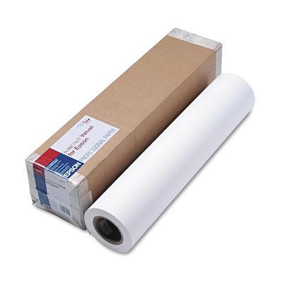 """Epson Somerset Velvet Paper Roll, 255 g, 24"""" x 50 ft, White"""