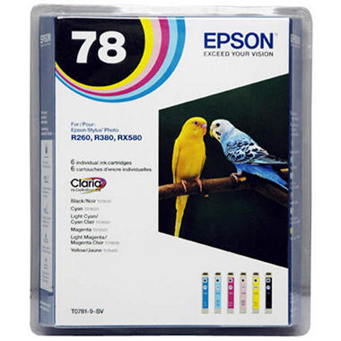 Epson 78 Ink Cartridge Multi-Pack (6 pk.)