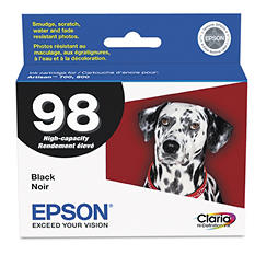 Epson - T098120 (98) Claria High-Yield Ink, 450 Page Yield - Black