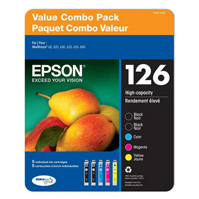 Epson DURABrite T126 Series Ink, Multi Pack