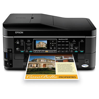 Epson WorkForce 645 Wireless Multifunction Inkjet Printer