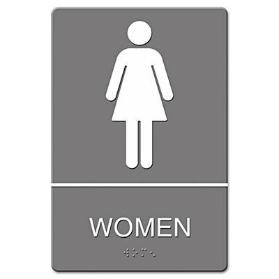 ADA Sign, Women Restroom Symbol