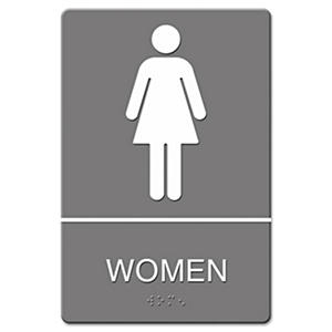 ADA Sign, Women Restroom Symbol
