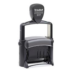 Trodat - Trodat Professional 12-Message Stamp, Dater, Self-Inking, 2 1/4 x 3/8 -  Black