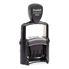 Trodat - Trodat Professional Stamp, Dater, Self-Inking, 1 5/8 x 3/8 -  Black