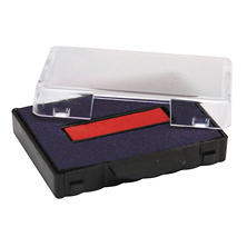 U. S. Stamp & Sign - T5440 Dater Replacement Ink Pad, 1 1/8 x 2 -  Red/Blue