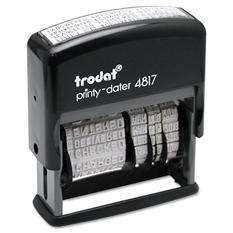 Trodat - Trodat Economy 12-Message Stamp, Dater, Self-Inking, 2 x 3/8 -  Black