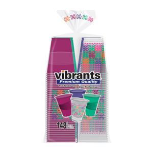 Vibrants Premium Quality Summer Cups, 117 Summer Color Cups, 31 Summer Print Cups (148-ct.)