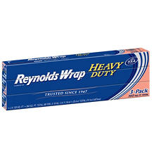 "Reynolds Wrap 18"" Heavy Duty Aluminum Foil, 120sq. ft. (3ct.)"