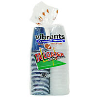 Vibrants Tailgater Kick-Off Dual Color Cups (16 oz., 70 Navy & 70 White)