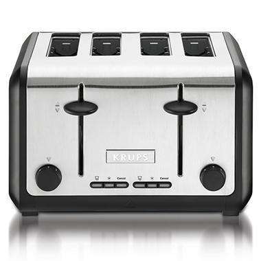 Krups 4-Slice Stainless Steel Toaster