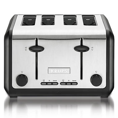 Krups 4-Slice Stainless Steel Toaster