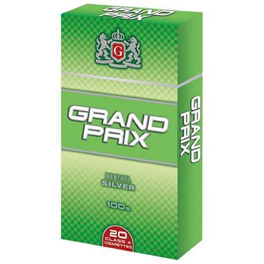 Grand Prix Menthol Silver 100s Box - 200 ct.