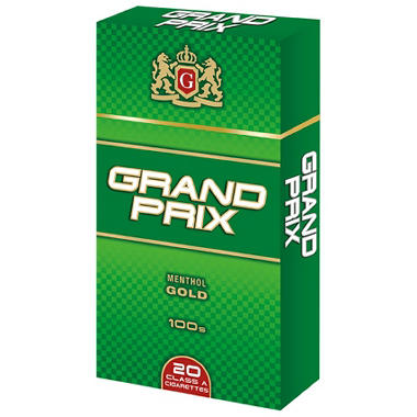 Grand Prix Menthol Gold 100s Box - 200 ct.