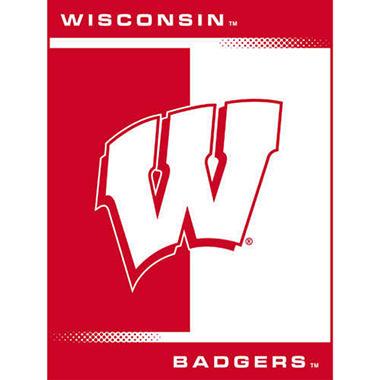 College Oversized Blanket - Wisconsin