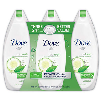 Dove Go Fresh Body Wash, Cool Moisture - 24 fl. - 3 pk.