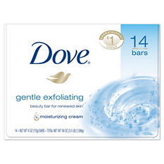 Dove Beauty Bar, Gentle Exfoliating - 4 oz. - 14 bars