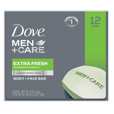 Dove Men's Bar Deep Clean/Extra Fresh - 12 bars