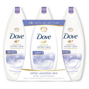 Dove Nourishing Body Wash, Winter Care (24 oz., 3 pk.)