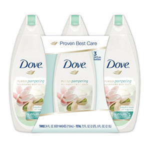 Dove Nourishing Body Wash, Pistachio Cream with Magnolia (24 fl. oz., 3 pk.)
