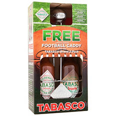 Tabasco 2-Pack w/ Free Limited Edition Football Caddy