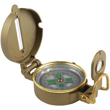 Lensatic Liquid Compass