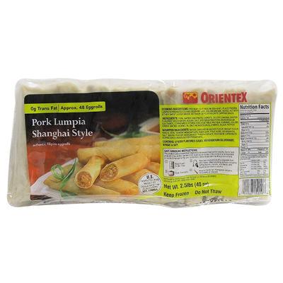 Orientex Pork Lumpia Shanghai Style Eggrolls - 2.5 lbs.