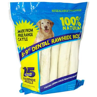 Rawhide Dental Rolls - 15 ct.