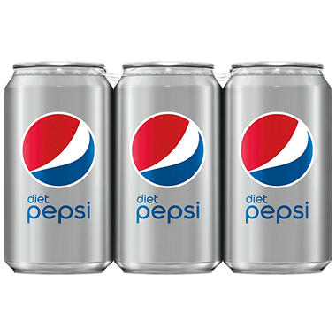 Diet Pepsi - 12 oz. cans - 6 pk. - 4 ct.