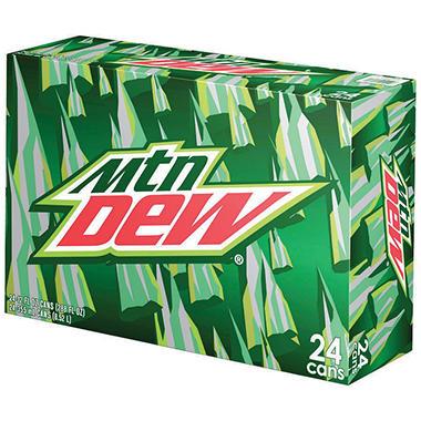 Mountain Dew (12 oz. cans, 24 pk.)
