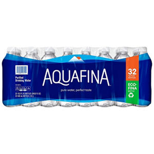 Aquafina Purified Drinking Water (16.9 fl. oz. plastic bottles, 32 pk.)