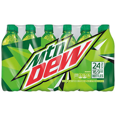 Mountain Dew Soda (16.9 fl. oz. bottles, 24 pk.)