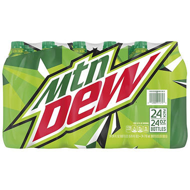 Mountain Dew - 24 oz. bottles - 24 pk.